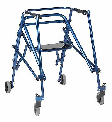 """Blue Nimbo Posterior Posture Walkers, Seat, Size Large, Handle Height 28"""" to 36"""""""