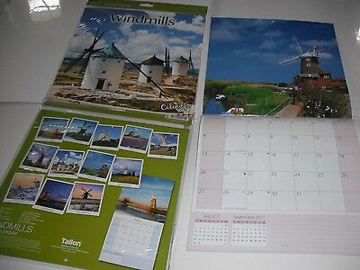 2017 Square Month To View Scenic Photo Wall Calendar - Windmills