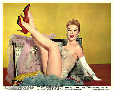 Les Girls Original Lobby Card  Mitzi Gaynor Leggy Portrait Photo Stunning