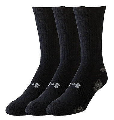 Under Armour Mens HeatGear Crew Socks - Pack of 3 pairs