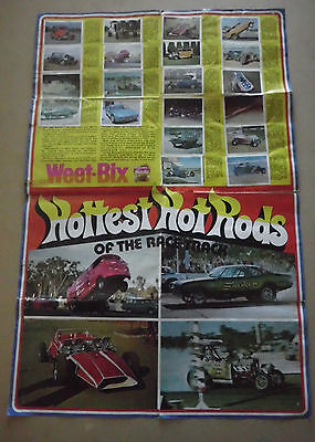 Vintage Weetbix 1976 Hottest Hot Rods Rat Rod Ford Coupe Mustang Roadster Holden