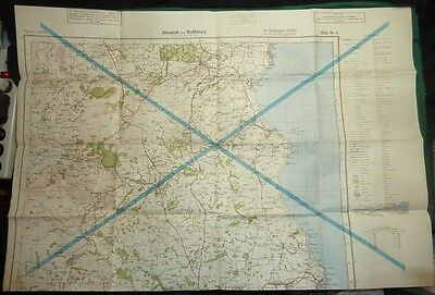 WW2 1940 German Map of English Coast Overprinted on Back with 1944 US Army Map