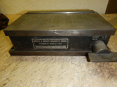 Brown And Sharpe 510 Permanent Magnetic Chuck Surface Tool Grinder Tooling