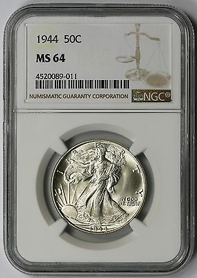 1944 Liberty Walking Half Dollar 50C MS 64 NGC