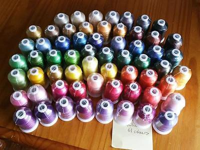 Pamela's Embroidery Brother Colors pack of 61 threads 1000metres CLEARENCE