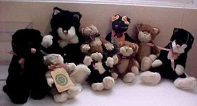 LOT of 9 Boyds CATS * All XLNT * with Tags * Keats * Tennyson * Browning * Zoe +