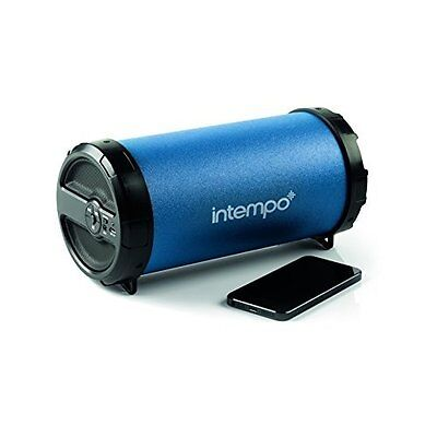 Intempo EE1274NB Large Rechargeable Tube Bluetooth Speaker, Blue