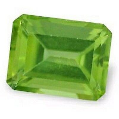 Best Dazzling Green PERIDOT Octagon Cut 9 x 7 mm