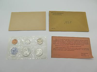 American Proof Set 1963 With Certificate