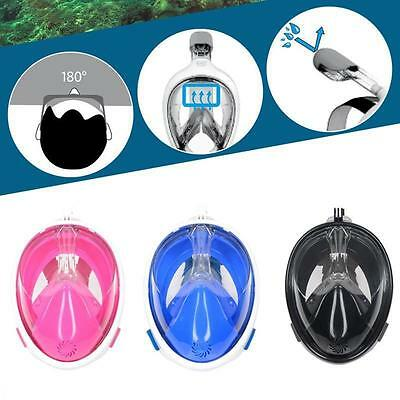 Full Face Dry Diving Mask for Gopro Cam Swimming Underwater Snorkel Scuba Masks