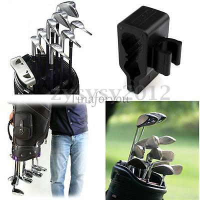 14X Golf Club Organizers Putter Bag Clip Holder Iron Driver Protector 1.7x2x4cm