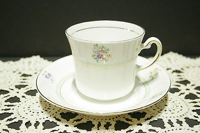 Colclough Genuine VALE Bone China Cup and Saucer 1945 - 48 Mint Flower Band
