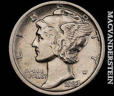 1923 Mercury Dime- Scarce !! High Grade !! Luster !! #q2382