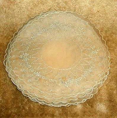 Set of 12 Late 1800's Finger Bowl Doilies