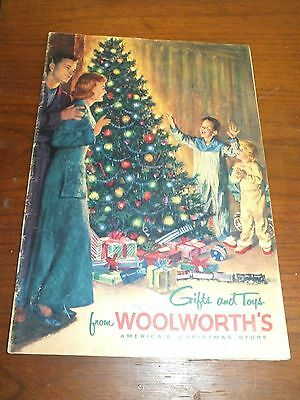 Vintage Woolworth 1955 Christmas Book Toy & Gift Catalog Illlustrations Picture