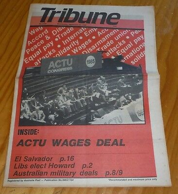 Tribune Australian Communist Weekly Newspaper Sept 1985 labor political liberal