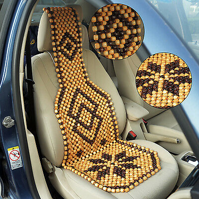 HomCom 1pcs Wooden Car Seat Cover Universal Automobile Chair Cushion Breathable