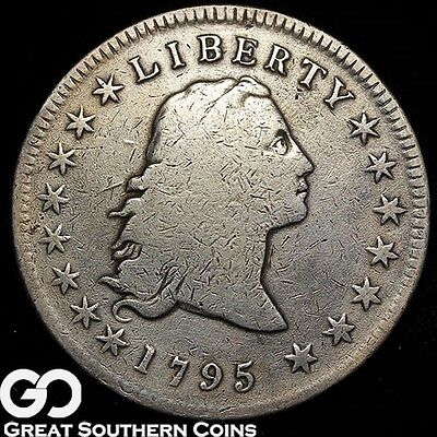 1795 Flowing Hair Dollar, SMALL EAGLE, Great RARE Type Coin, Key Date, Free S/H!