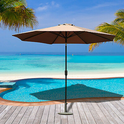 Outsunny Parasol inclinable rond Φ 3 m Chocolat neuf 70CF