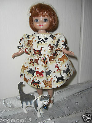 ~ALL about CATS~ pet Cat and Dress 4 Betsy McCall 8 inch Doll Clothes *new*