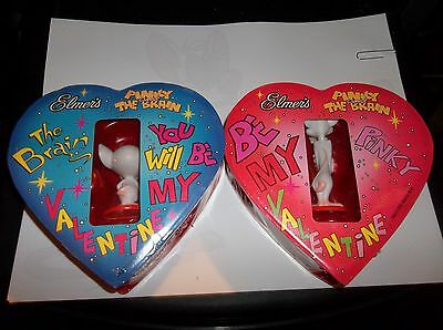 Pinky and the Brain VALENTINES FIGURES MINT IN BOX LOOK ! 1998 WARNER BROTHERS