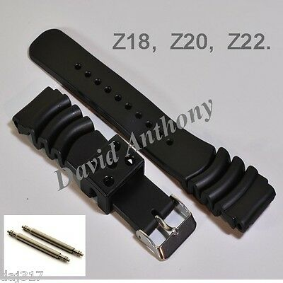 18Mm,20Mm 22Mm Divers Rubber Watch Strap.made For Seiko.curved Vent Z18,z20, Z22