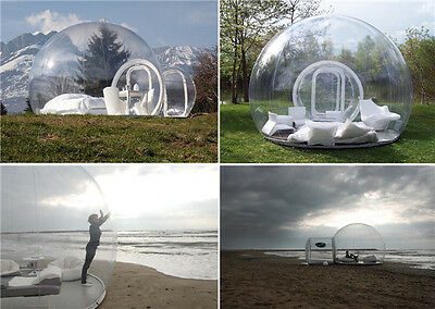 Outdoor Single Tunnel Inflatable Bubble Tent Camping Family Stargazing w/ Blower