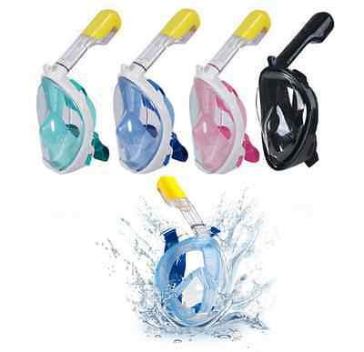 Full Face Snorkeling Mask Scuba Diving Swimming Breather Pipe For Gopro Swim Hot