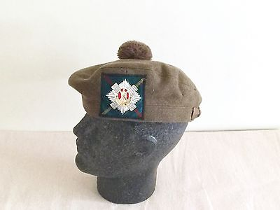 British Army-Issue Tam O Shanter & Badge. The Royal Scots. Size 56cm.