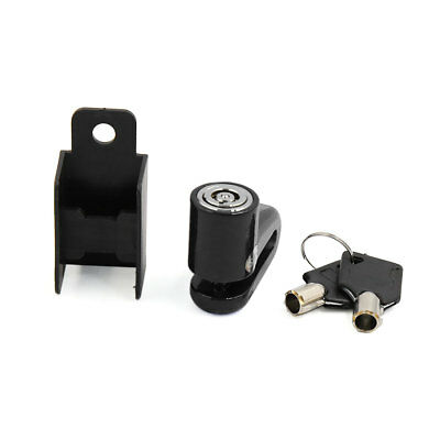 Security Safety Anti-theft Disc Brake Lock Protector Black w 2 Key for Motorbike