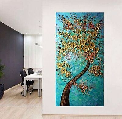 Beautiful tree modern abstract art painting walls on the canvas (no frame)