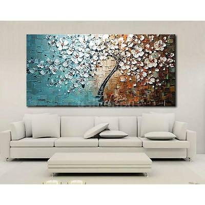 Modern Abstract Art Oil Painting On Canvas Wall Decor Flower Tree No Frame