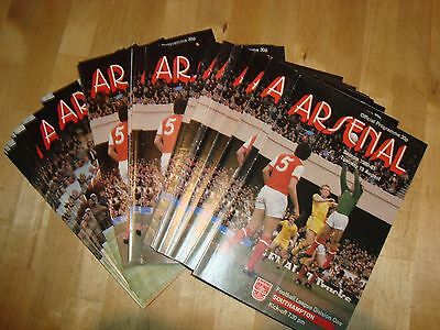 Full season of Arsenal 1980-1  home programmes - 22 programmes