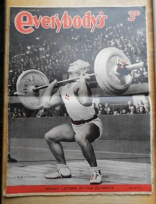 Everybody's magazine 1948 J. Runge weightlifting Olympic weight lifters
