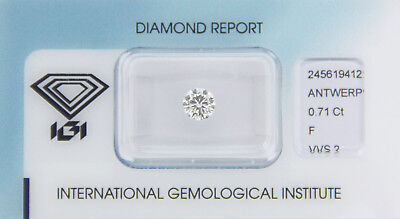 Diamant 0,71ct F VVS 2