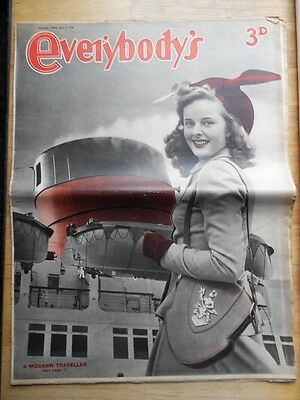 Everybody's magazine 1948 The Modern Traveller cover & feature