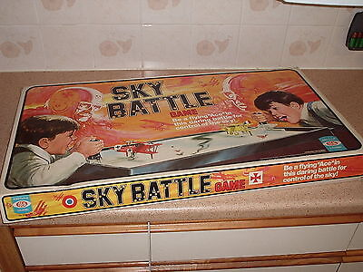 Vintage Ideal Sky Battle Game Box & Board Only 1976 Toy