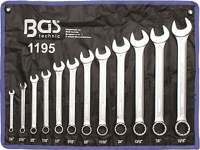 BGS-Combination Spanner Set Inch Sizes 1/415/16Inches Pack of 12 1195 NEW