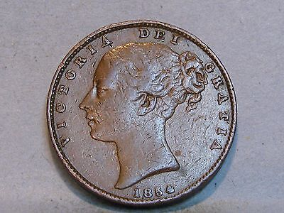 Victorian **young Head** Copper Farthing Coin  Dated 1854