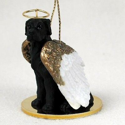 GREAT DANE black DOG ANGEL Ornament Figurine Statue Christmas puppy UNCROPPED