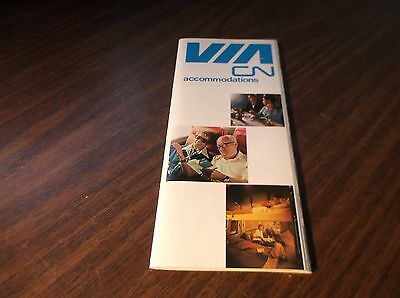 Via Rail Canada Canadian National Accommodations Guide Booklet