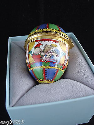 Halcyon Days Enamels Egg Shaped Box - Punch And Judy