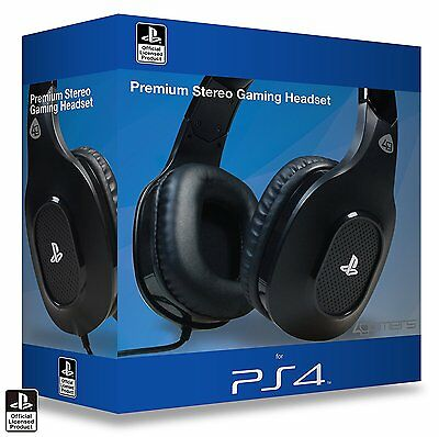 Playstation 4 Officially Licensed Premium Stereo Gaming Headset NEW Bx Dam PS4