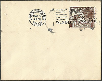 FDC 1925 11/2d stationery cover fair condition flap in tact