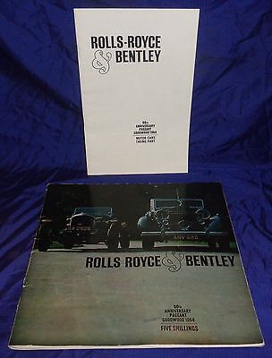 BH1139 Vtg Rolls Royce & Bentley 60th Anniversary Pageant Goodwood 1954 Guide
