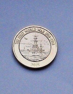 1 x The 100th Anniversary of the First World War - The Royal Navy £2.00 Coin