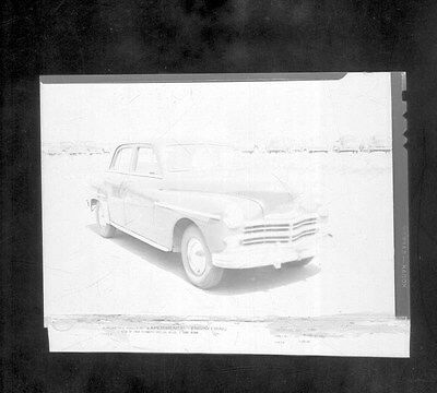 1949 Plymouth Sedan ORIGINAL Factory Kaiser Frazer Spy Photo Negative ww6138