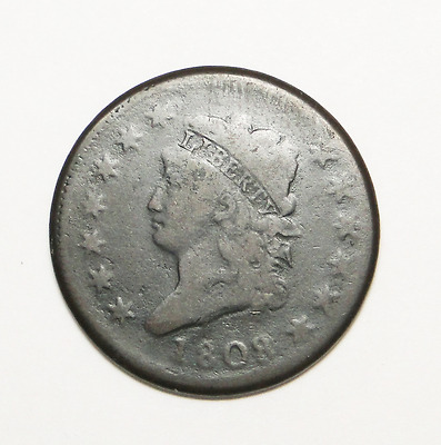 1808 Classic Head Large Cent Rare Old U.s. Type Coin