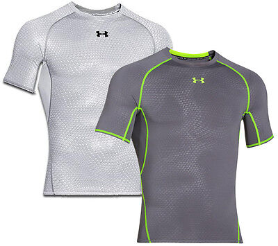 Under Armour Mens HeatGear Armour Printed SS Compression Shirt