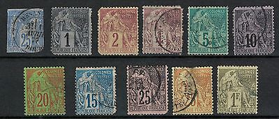 france colonies general issue stamps useful lot used/unused better noted partset